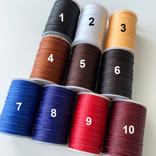 Foto Produk 0,6 mm ZATO Waxed Leather Thread HIGH QUALITY   Benang Jahit Kulit dari ZATO INDONESIA