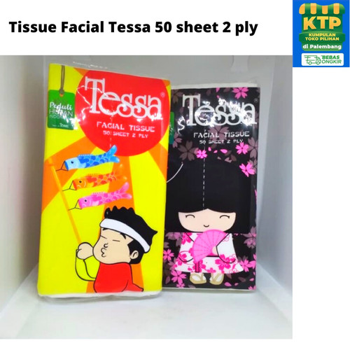 Foto Produk Tissue Facial Tessa 50 sheet 2 ply/ Tissue Travel Tessa /Tissue Pocket dari weneedpackaging
