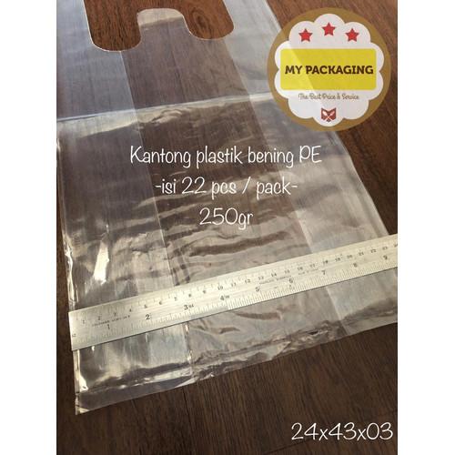 Foto Produk Kantong plastik BENING ukuran 24cm - 250Gr/pack isi 30pcs - dari My Packaging