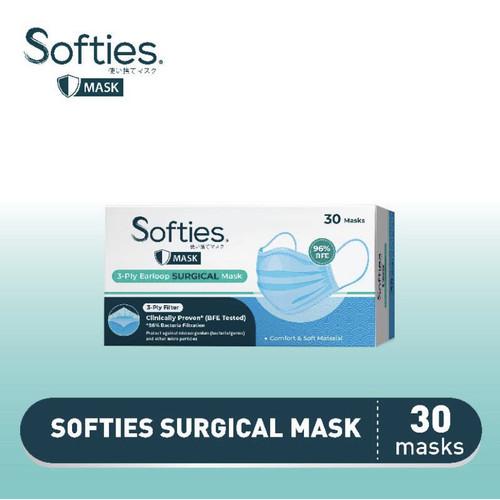 Foto Produk READY STOCK! SOFTIES Surgical Mask Masker Earloop 3 Ply (50 Pcs) - 1 Box = 30 Pcs dari Naturally Plus Jakarta
