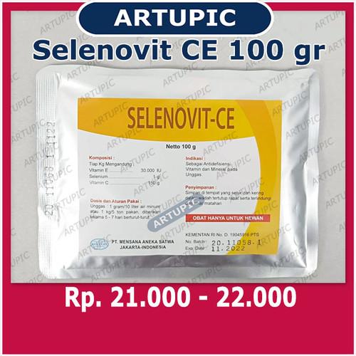 Foto Produk Selenovit CE 100 gram Vitamin Mineral Ayam Unggas Selenium Vit C Vit E dari ArtupicPeralatanPeternak