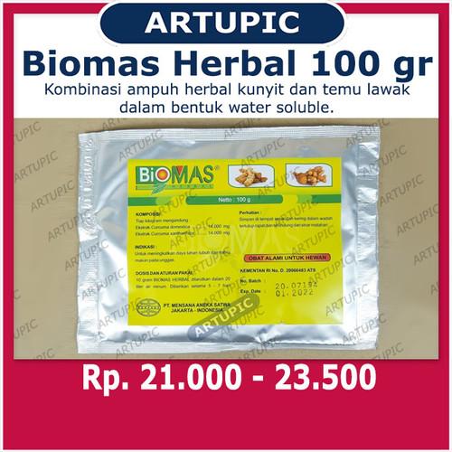 Foto Produk Biomas Herbal 100 gram Nafsu Makan Daya Tahan Tubuh Unggas Ayam Kunyit dari ArtupicPeralatanPeternak