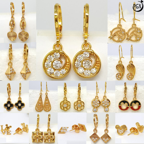 Foto Produk Anting Dewasa Mutiara Permata - Set Perhiasan Xuping Lapis Emas - P173 dari Pusat Grosir Xuping