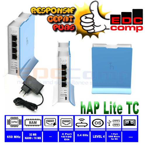 Foto Produk Router MikroTik RB941-2nD-TC / hAP-Lite2 dari edccomp-ubnt-mikrotik