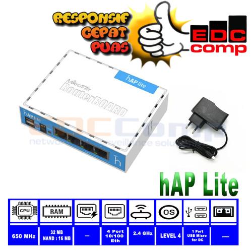 Foto Produk MikroTik RB941-2nD / hAP-Lite Hotspot Voucher MIKHMON MIKBOTAM dari edccomp-ubnt-mikrotik