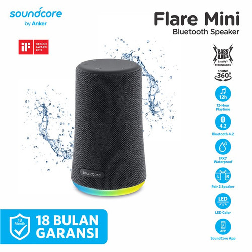 Foto Produk ANKER Soundcore Flare Mini Bluetooth Speaker - A3167011 dari manekistore