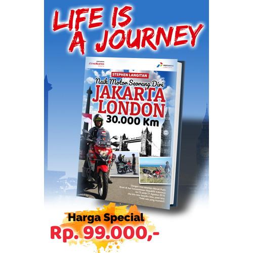 "Foto Produk Buku ""Naik Motor Seorang Diri, Jakarta-London 30.000 Km"" dari MediaSL1"