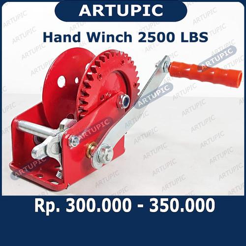 Foto Produk Hand Winch 2500 LBS Handwinch Katrol Kerekan Tangan Pengatur Jalur Nip dari ArtupicPeralatanPeternak