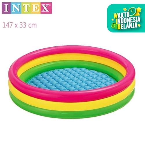Foto Produk Mainan anak kolam intex 57422 ukuran 147 x 33cm / 3 ring kolam renang dari bintangjaya toys
