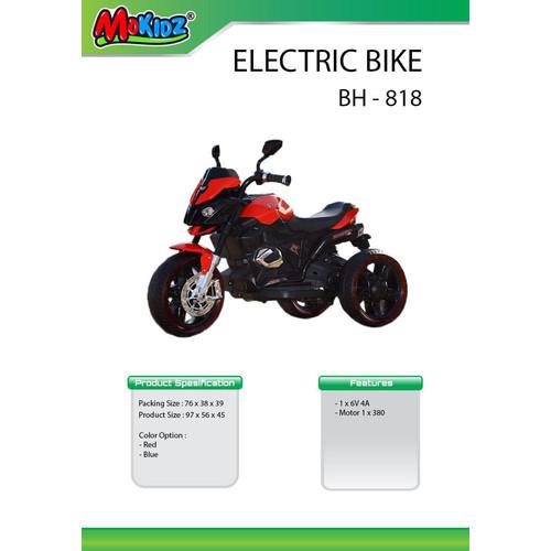 Foto Produk Mainan anak motor aki mokidz / yotta BH 818 roda tiga dari bintangjaya toys