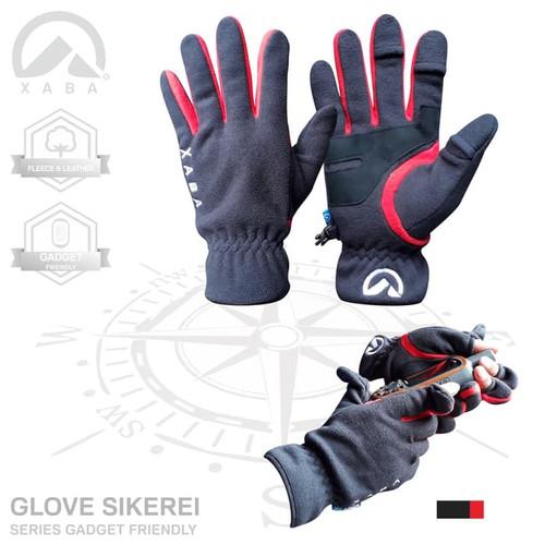 Foto Produk BEST SELLER - sarung tangan gunung ski lapangan outdoor xaba - Merah dari XABA
