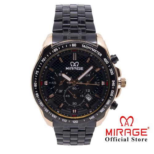 Foto Produk JAM TANGAN PRIA TERBARU HITAM ROSEGOLD MIRAGE ORIGINAL 8535M dari Mirage Watch