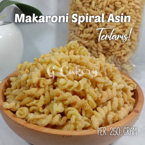 Foto Produk MAKARONI SPIRAL ASIN DAN PEDAS 250 GRAM TERLARIS - Asin dari Golden Cakery