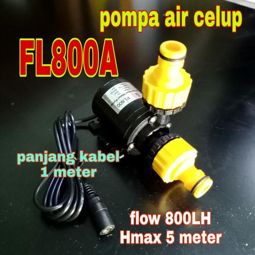 Foto Produk Pompa Air Celup Mini FL800A Pompa DC 12V 800L/H dari GG outlet