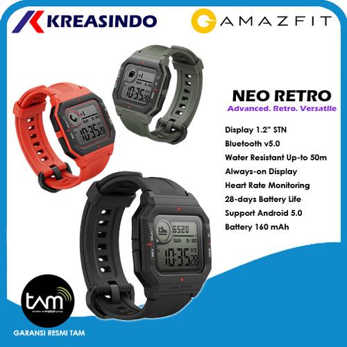 Foto Produk Amazfit Neo Retro Smartwatch Amazfit Neo Sport Garansi Resmi - Hitam dari Kreasindo Online