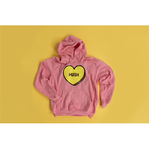 Foto Produk [50%] OFFICIAL YELLOW CLAW & WEIRD GENIUS MERCH - HUSH PINK HOODIE - XL dari Pluus Merch