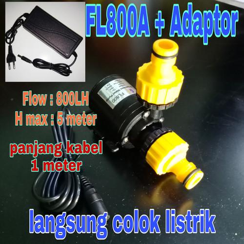 Foto Produk Pompa air celup mini DC 12V FL800A + ADAPTOR dari GG outlet