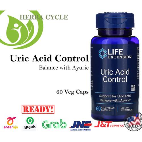 Foto Produk Life Extension Uric Acid Control (60 Veg) Obat Asam Urat ORI USA dari Herba Cycle