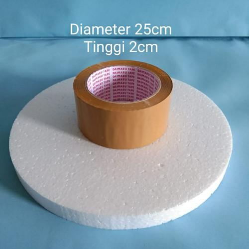Foto Produk D25x2cm Gabus Styrofoam Bulat Dummy Cake dari ken-z