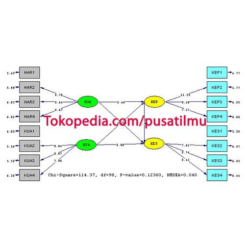 Foto Produk Contoh Tabulasi Data untuk Analisis SEM dengan Lisrel dalam SPSS - Data Lisrel dari Pusat Ilmu