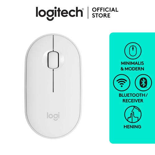 Foto Produk Logitech Pebble Wireless Bluetooth Mouse M350 - Off White dari Logitech Official Store