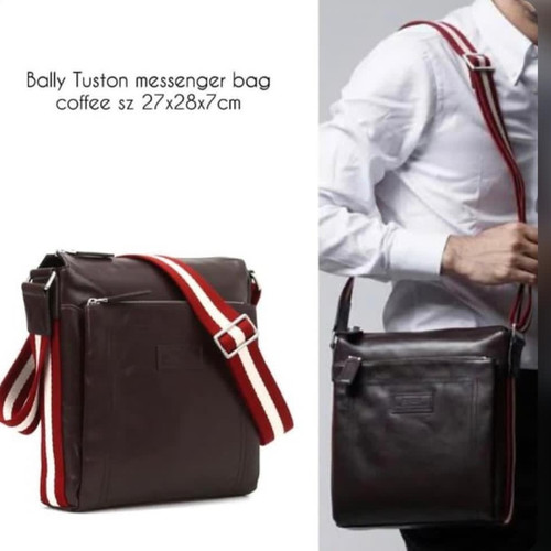 Foto Produk Bally tuston men brown. Bally Messenger. Bally Original dari Laristie