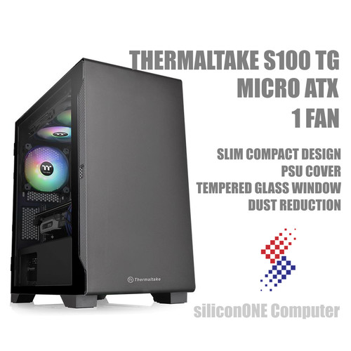 Foto Produk Thermaltake S100 TG [1FAN INCLUDED] MATX PSU COVER dari silicon ONE Computer