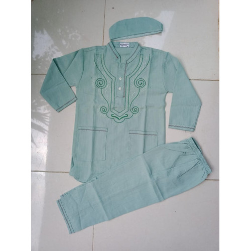 Foto Produk Baju Muslim Setelan Koko Anak umur 4 - 5 - 6 Tahun - Hijau, 4 - 5 Tahun dari Zarka Baby Shop