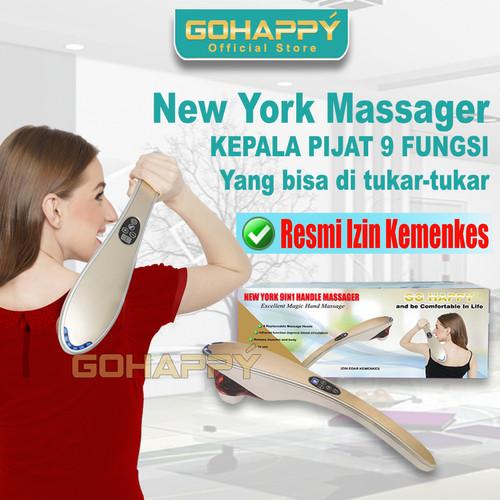 Foto Produk [KEMENKES] Alat Pijat infrared Newyork 9 fungsi Ghkm99   Go Happy dari KLIK MURAH