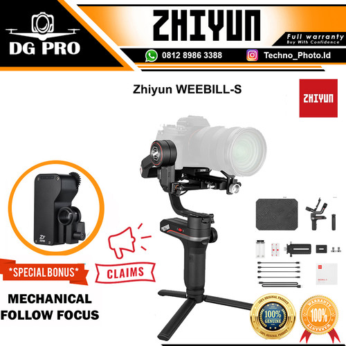 Foto Produk Zhiyun-Tech WEEBILL-S 3-Axis Gimbal Stabilizer For DSLR & Mirrorless dari DG PRO