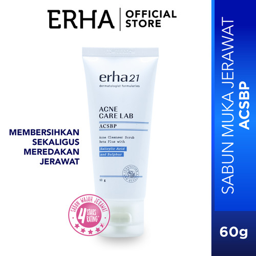 Foto Produk erha21 Acne Care Lab Acne Cleanser Scrub Beta Plus 60g - Sabun Jerawat dari Erha Official Store