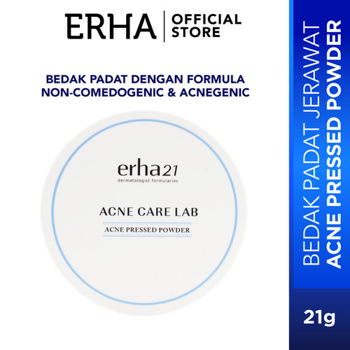 Foto Produk erha21 Acne Care Lab Pressed Powder 13g - Bedak Kulit Jerawat dari Erha Official Store