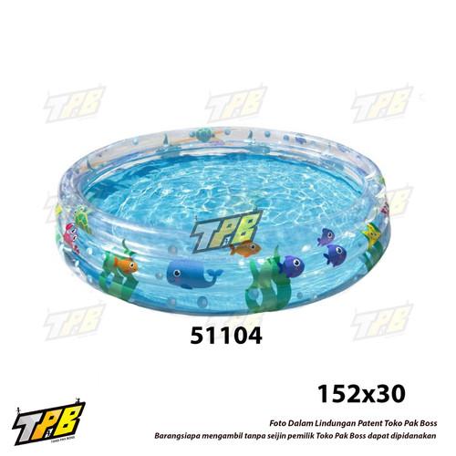 Foto Produk Kolam Renang Anak Set Intex RingBaby Pool Pompa Bak Mandi Karet Balon - Bulat 51004 dari TOKO PAK BOSS