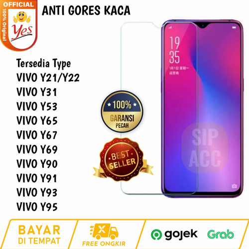 Foto Produk Vivo Y93 Tempered GlaClear Anti gores Kaca Bening Screen guard dari SIP ACC