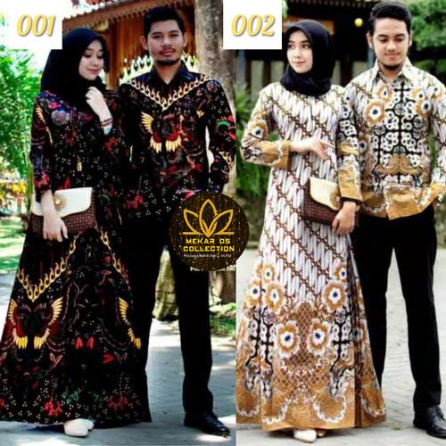 Foto Produk Couple Gamis Murah Batik Nirwana Kebaya Sogan - 003 dari Mekar OS