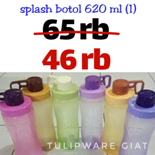 Foto Produk SALE Botol Minum Anti Tumpah / Splash Bottle Tulipware dari TULIPWARE collection