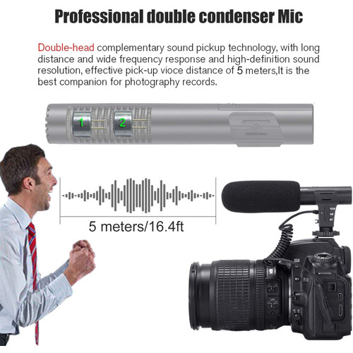 Jual Camera Video Recording Microphone For Photography Interview Vlogging Jakarta Barat Takkii Shop Tokopedia