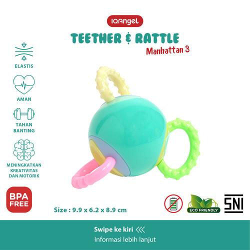 Foto Produk IQAngel Manhattan 3 Teether Rattle Toy / Mainan Gigitan Bayi dari KSM Baby and Kids
