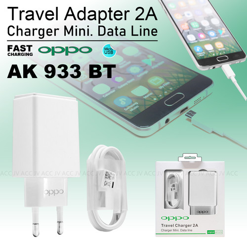 Foto Produk ORI99 AK933 Oppo Travel Charger Casan Original For OPPO DEVICE MICRO dari JV ACC