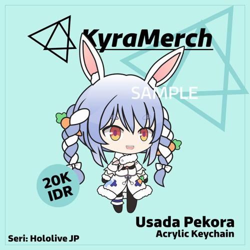 Foto Produk Keychain Hololive Japan Usada Pekora dari KyraMerch