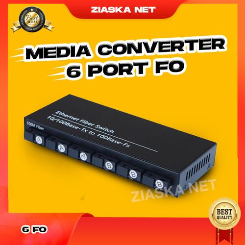 Foto Produk Modul Media Converter 100mbps Switch 6 port SC + 2 port LAN RJ45 dari ZiaskaNet