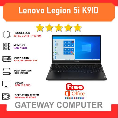 Foto Produk Lenovo Legion 5i K9ID i7 10750 16GB 512ssd GTX1650Ti 4GB W10+OHS 144Hz dari Gateway Indonesia Comp