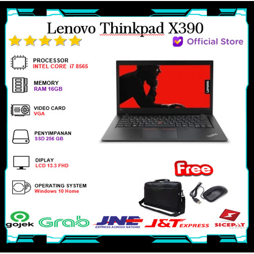 Foto Produk Lenovo Thinkpad X390 Touch - i7 8565 16GB 256 SSD 13.3FHD Windows10 dari Gateway Indonesia Comp