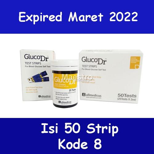 Foto Produk Strip GlucoDr Isi 50 BioSensor Gluco Dr Tes Gula Darah AGM-2100 50pcs dari Maestro Listrik