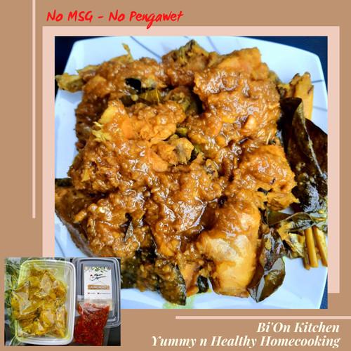 Foto Produk Ayam Ungkep+sambal bawang 1ekor 8 pot Ayam Kuning Lengkuas Ayam Goreng dari Bi'On Kitchen