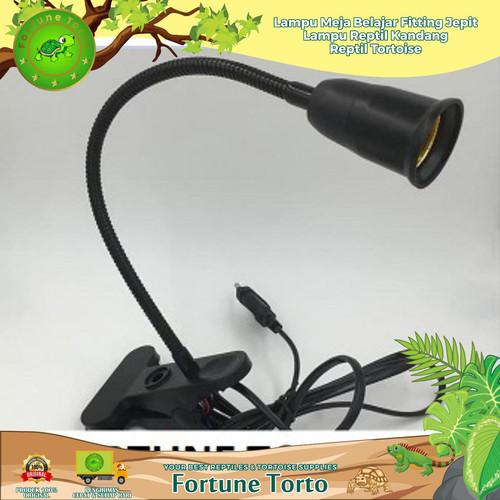 Foto Produk Lampu meja belajar/fitting jepit/lampu reptil/ kandang reptil/Tortoise dari Fortune Torto