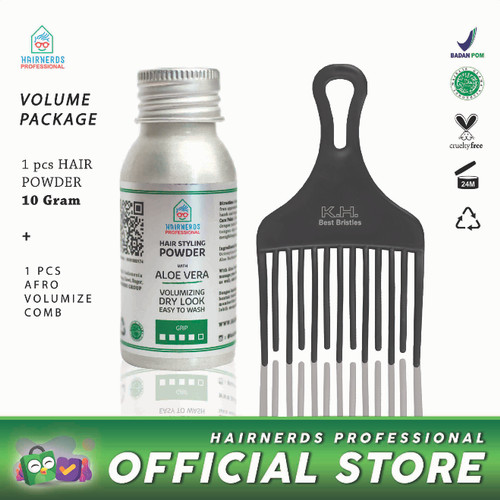 Foto Produk Hairnerds Professional FreestyleDust Powder + Afro Comb dari Hairnerds Professional