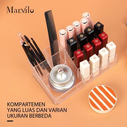 Marvilo Kotak Lipstik Organizer Lipstick Rack Transparan Rak Lipstik 4