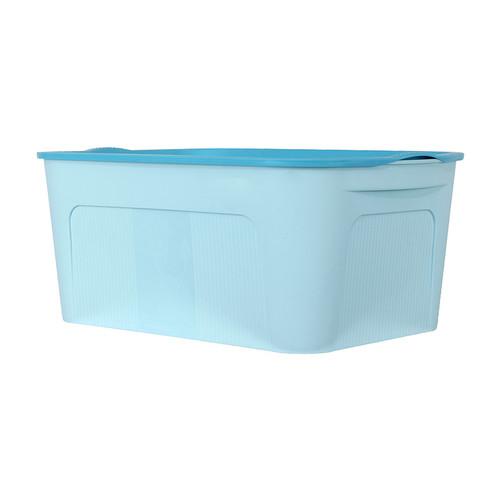Foto Produk MINISO Kotak Penyimpanan Storage Box Container Organizer Tempat Baju - Biru Muda, S dari Miniso Indonesia