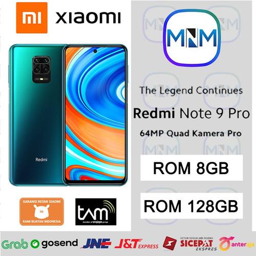 Foto Produk Xiaomi Redmi Note 9 Pro 8/128 Ram 8gb Rom 128gb Garansi Resmi - Biru dari MnM Phone